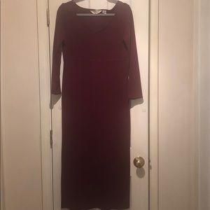 Vintage Eddie Bauer V-neck Maxi dress
